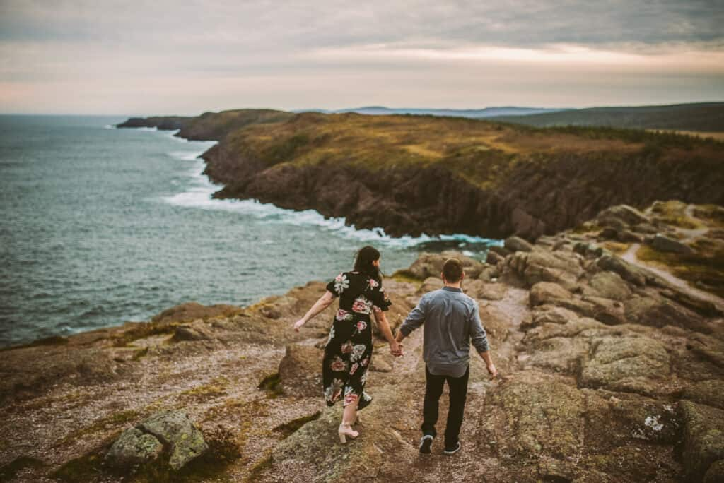 a couple runs along the cliffs at cape spear